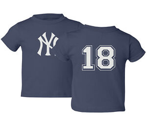 pretty nice 79713 6db9c Details about NY Yankees #18 Didi GREGORIUS Baseball Jersey Kids Toddler  T-Shirt