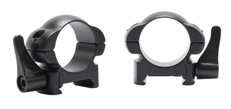 Pecar Optics Scope Rings Weaver Style 1 Inch 30mm Niedrig Medium High QD Nut Steel