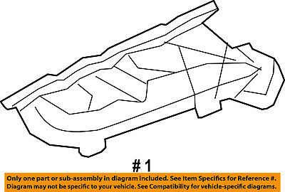 Ford OEM 2011-2014 F-150 5.0L-V8-Exhaust Manifold BL3Z-9430-C Passenger Side