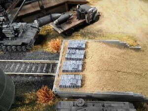 HO Roco Minitank Parts Custom Anti-Aircraft Ammunition Shells Set of 4 #DP37