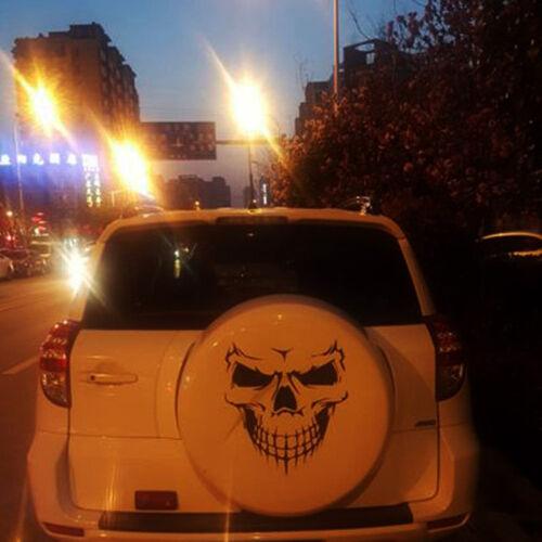 "18/"" Black Skull Hood Decal vinyl large Graphic sticker Car Truck window HI"