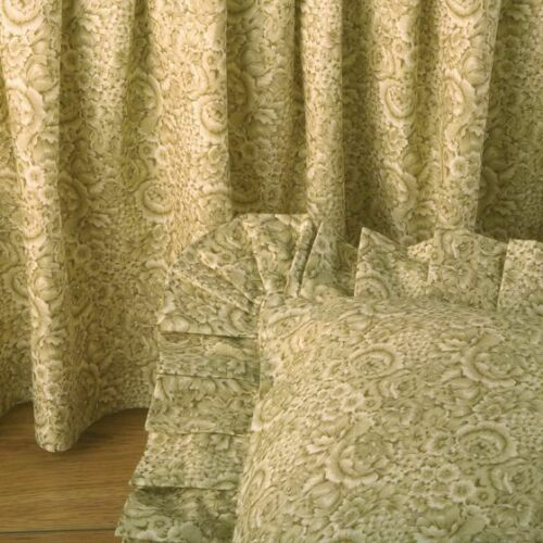 DONNA SHARP ~ BEIGE FLORAL BED SKIRT// DUST RUFFLE OR EURO SHAM