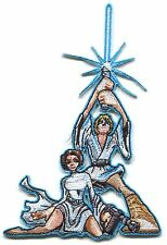 STAR WARS luke & leia artwork EMBROIDERED IRON-ON PATCH *Free Shipping* psw57