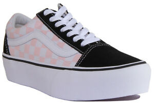 vans old school black donna platform