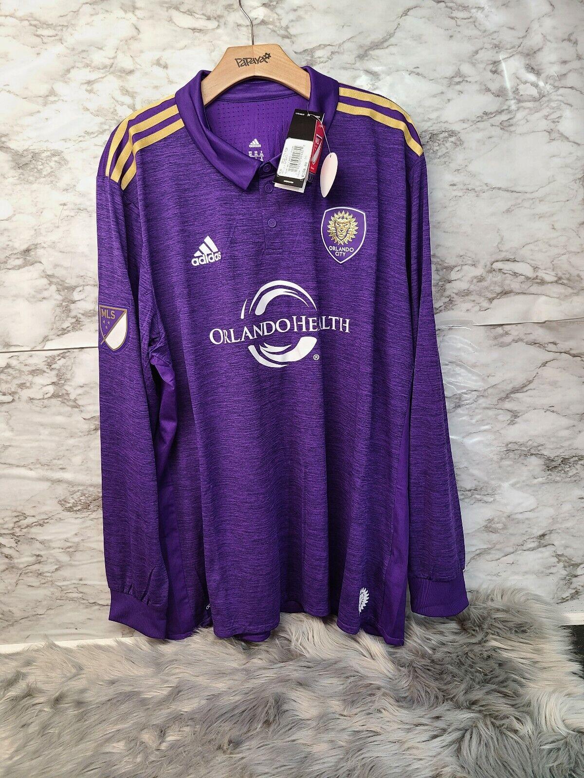 adidas Authentic Orlando City SC Purple Long Sleeve MLS Soccer ...