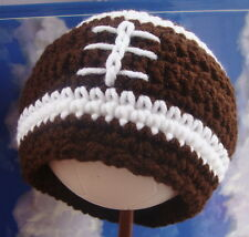 New Football Baby Hat Newborn boy 0-3mo soft knit beanie mom shower nfl fan gift