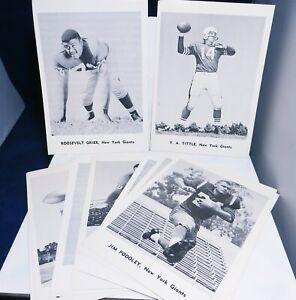 1961-New-York-Giants-Futbol-Raro-12-Jugador-Foto-Set-5x7-Blanco-y-Negro-Lustroso