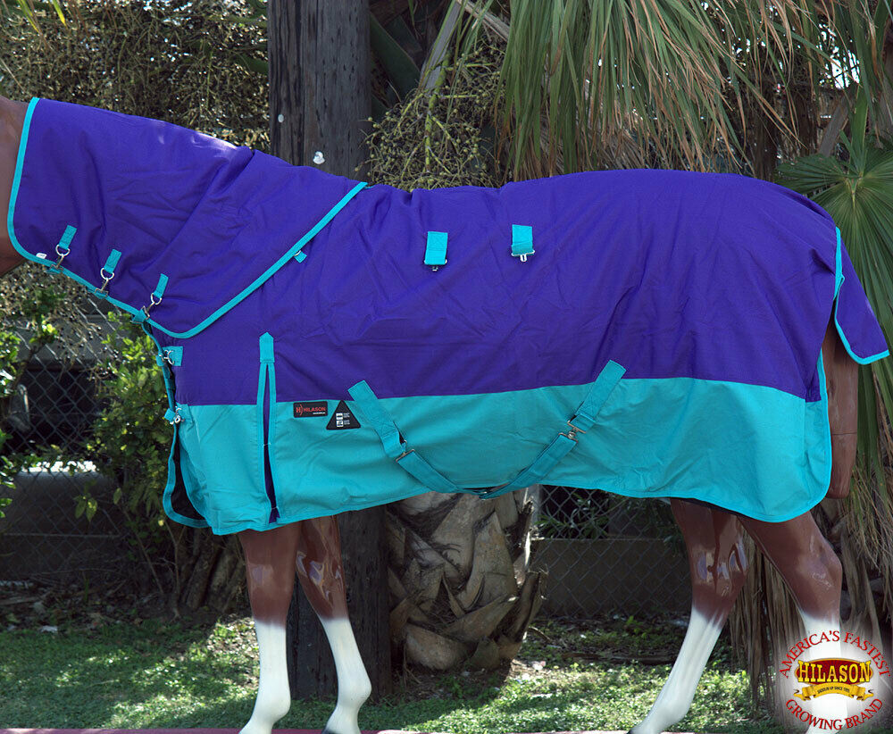 70 Hilason 1200D Waterproof Turnout cavallo Blanket Neck Cover viola UD70