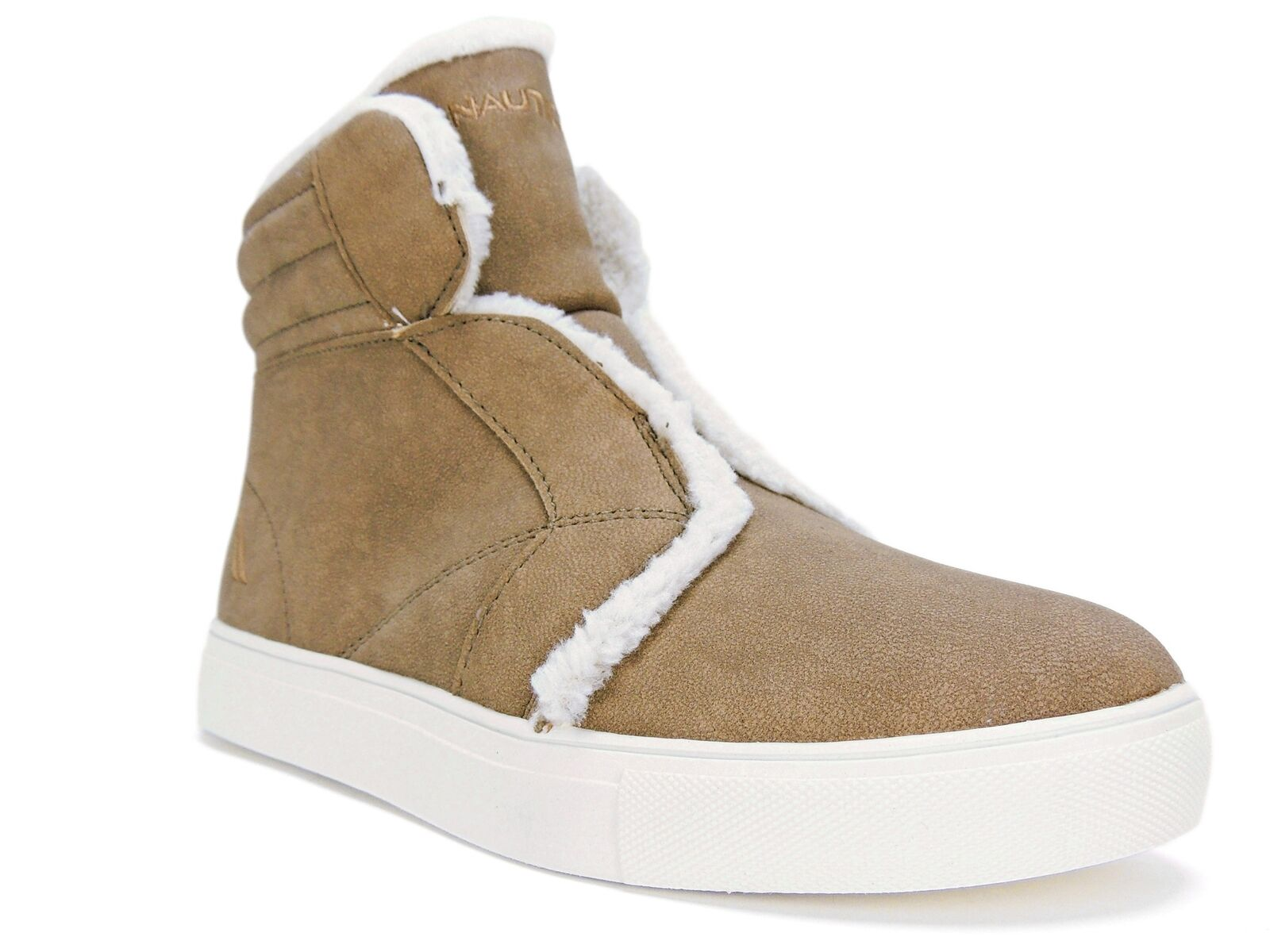 Nautica Women's Kellen High Top Sneakers Athletic Boots Camel Size 7.5 M
