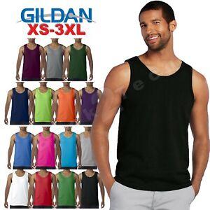d5da85e9d4cfa Details about Mens Gildan Tank Top Ultra CottonWorkout Fitness gym Shirt  Solid Color G5200