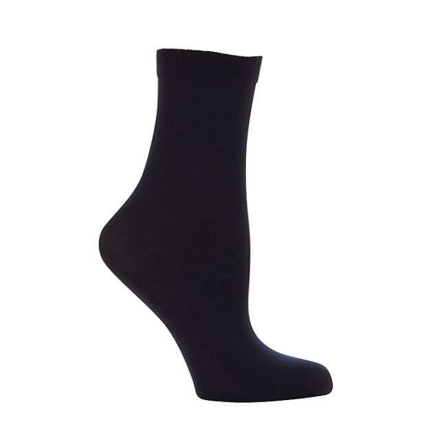 New Ladies And Girls Comfort  40 Denier  Opaque  Anklets  Silky In Black Colour