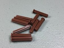 6159763 Brick 15462 10x LEGO NEW Reddish Brown Axle 5 with End Stop