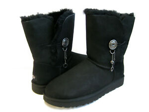 c26361ef4fc Details about UGG AZALEA CHARM WOMEN SHORT BOOTS SUEDE BLACK US 11 /UK 9  /EU 42