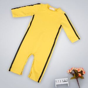 Newborn Toddler Baby Boy Kids Bruce Lee Romper Jumpsuit Bodysuit