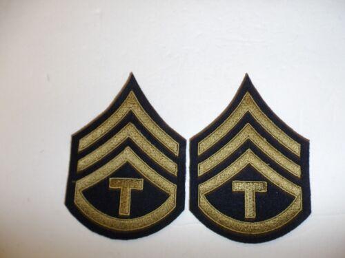 1094p US Army /& Air Force T-3 Technician 3rd Grade third Chevrons OD pair R1B