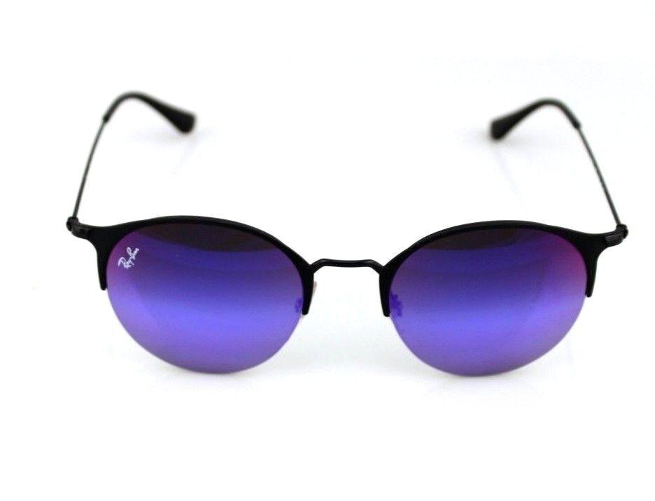 17086f9c946 Ray-Ban RB 3578 186 b1 Black Matte Metal Sunglasses Blue Violet ...