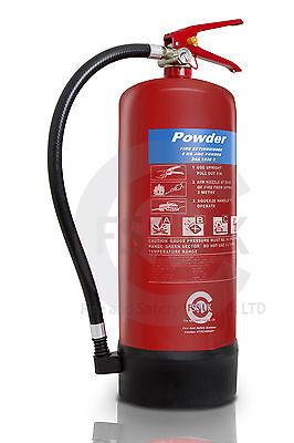 (R) 9 KG ABC POWDER FIRE EXTINGUISHER-COMMERCIAL TRUCKS.BRITISH KITEMARKED