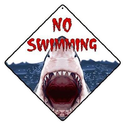 "Shark Metal Crossing Sign 16 1//2/"" x 16 1//2/"" Diamond shape made in USA #78"