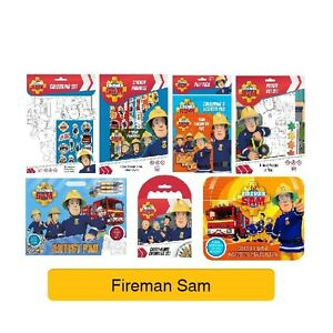 FIREMAN-SAM-Colouring-Stickers-Activity-Books-Kids-Party-Gift-Xmas