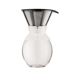 Bodum Pour Over 15 L Weiß Kaffeebereiter Mit Permanentfilter Cold