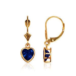14k Massiccio Nero Zaffiro Blu Cuore Corona Set Levetta Posteriore Soft And Light Fine Earrings Jewelry & Watches