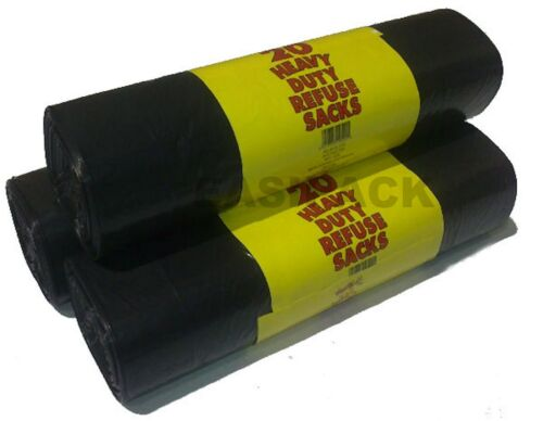 años 20 en un rollo se niegan sacos de Bolsa Negro - 1 RM20/'s Rollo de 20 un.