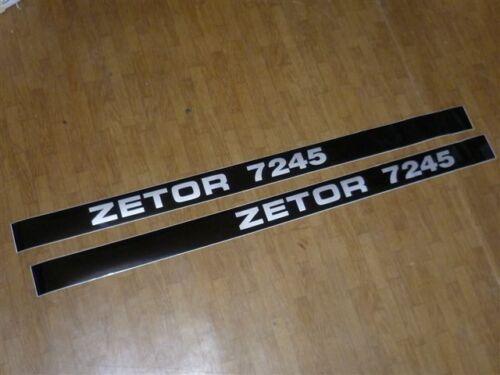 2 Stück Aufkleber Schild ZETOR 7245 für Motorhaube Zetor TYPENSCHILD Traktor
