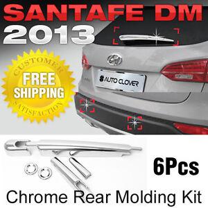 Chrome Rear Molding Kit 6P 1Set For 12 13 Hyundai Santa Fe DM