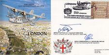 PP30 LONDON RAF cover signed Grp Capt HAGGAR MBE DFM & Wg Cmdr BIRKS