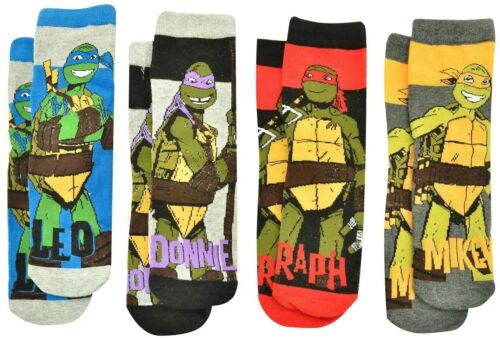 TMNT TEENAGE MUTANT NINJA TURTLES KIDS BOYS SOCKS SET 4 PAIRS EU 29-34