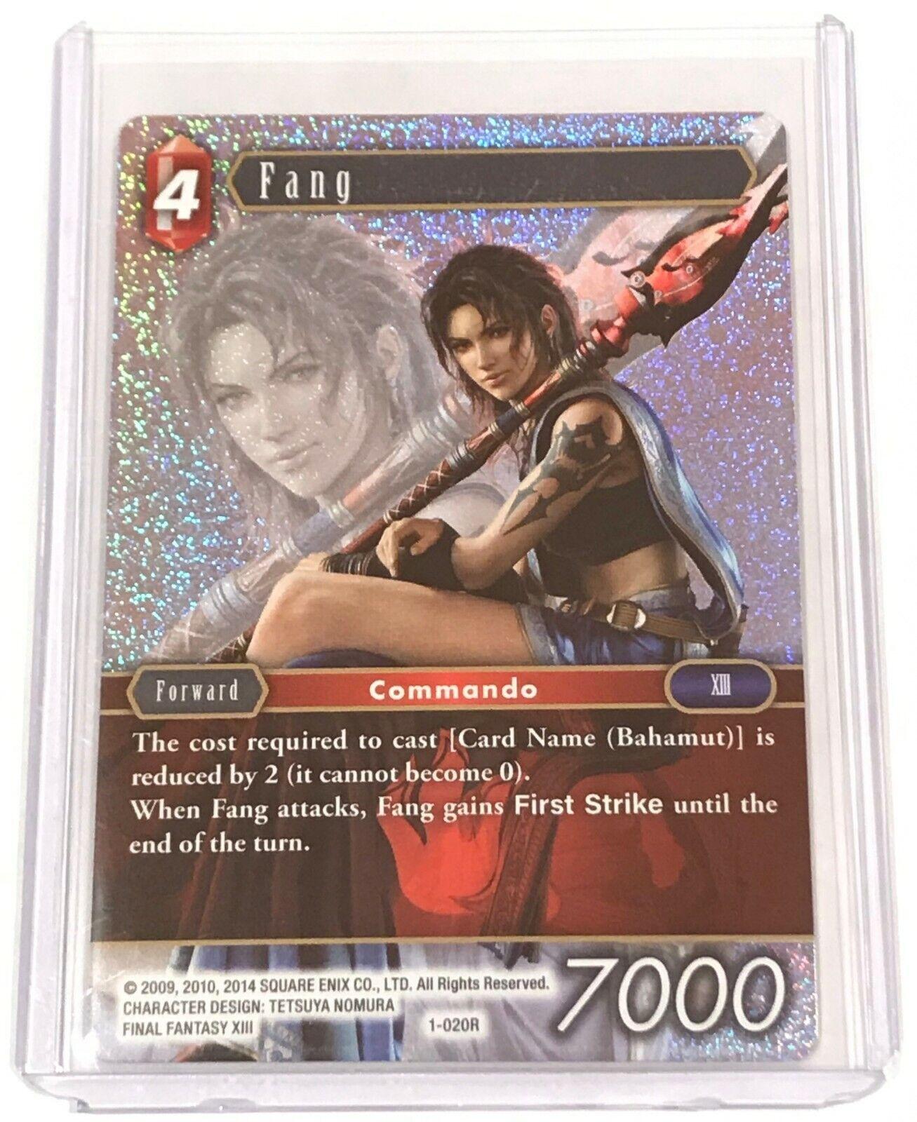 Final Fantasy TCG 1-020R Fang Foil Opus 1 Rare Mint