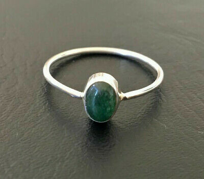 Sterling Silver Turquoise Ring Gemstone Stack Stackable Size 5 6 7 8 9 10 11