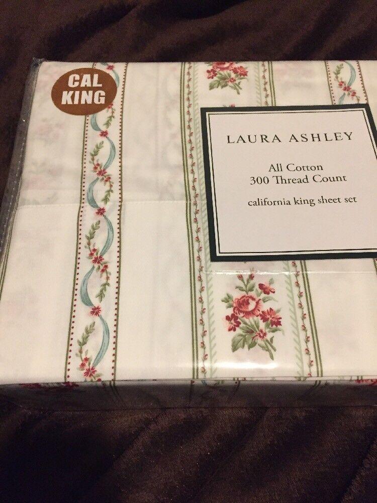 Laura Ashley Emmeline Feuille Set, California King Neuf Blanc Floral