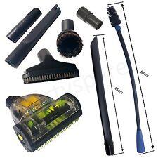 UNIVERSAL Car Valeting Mini Turbo Valet Brush Hoover Tool Kit Vacuum 4 Cloths