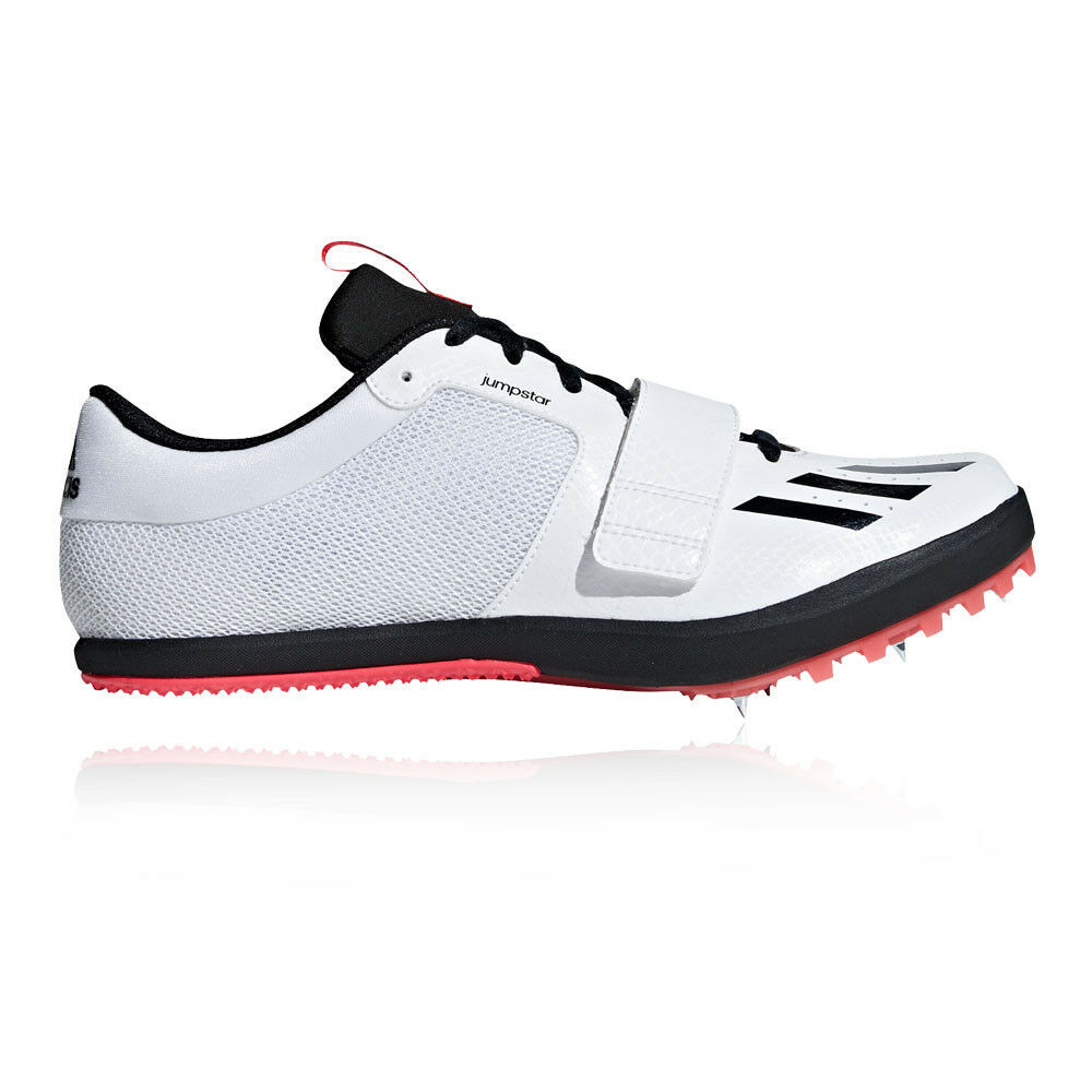 Adidas Mens Jumpstar Track and Field shoes White Sports Running Breathable