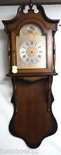 Caja de madera reloj de pared HERSA TEMPUS FUGIT dial de metal núneros romanos