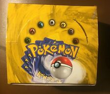 POKEMON BASE SET EMPTY BOOSTER PACK BOX, 1999, Minor creases, (NO CARDS)