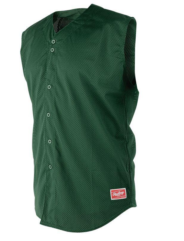 Rawlings rbbsj67 Sin Mangas De Béisbol Jersey-verde Oscuro-Adulto Xs-Lote De 12