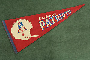 New England Patriots Pennant Single Bar 1970s Helmet Pennant Randy Vataha