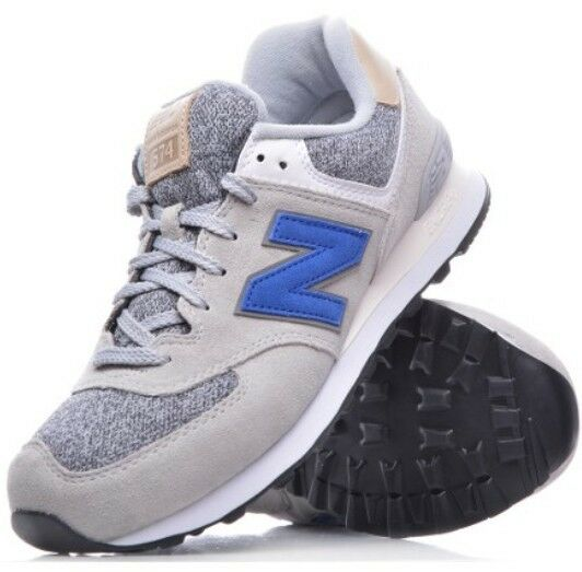 New Men's New Balance Classic Ink bluee and Grey Low Tops Size 7 - ML574VAH