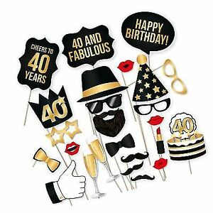 PartyGraphix DIY 40th Birthday Party Photo Booth Props Kit