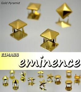 EIMASS-Gold-Claw-Studs-Rivets-Pyramid-Spike-Cone-Star-Shoe-Bags-Leather-Craft