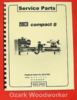 Emco Compact 8 Metal Lathe Parts Manual 0294