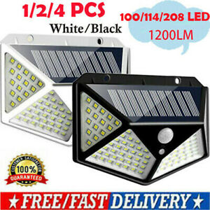 100-114LED-Solar-Power-Wall-Light-PIR-Motion-Sensor-Outdoor-Garden-Security-Lamp