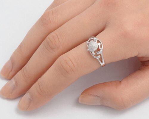 USA vendeur Tiny Turtle Anneau Argent Sterling 925 BEST DEAL Simple Bijoux Taille 9