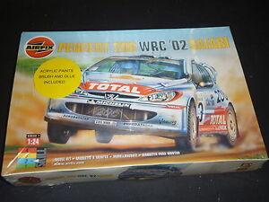 Airfix-unmade-plastic-kit-of-a-Peugeot-206-WRC-02-Safari-boxed