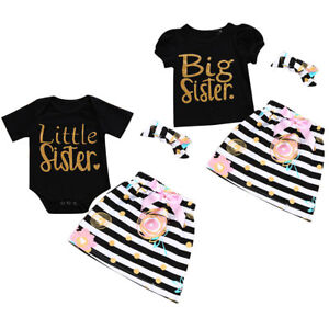 3PCS-Toddler-Infant-Baby-Girl-T-shirt-Romper-Tops-Skirt-Dress-Outfit-Clothes-Set