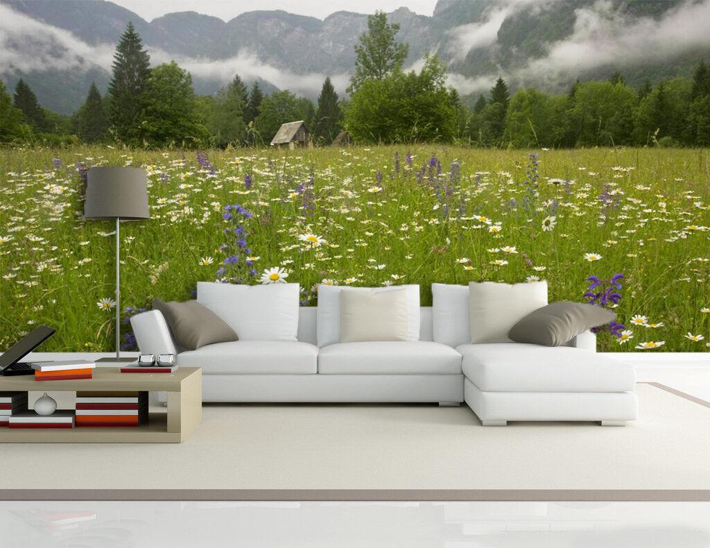 3D Holz Wildbluemen 454 Fototapeten Wandbild Fototapete BildTapete Familie