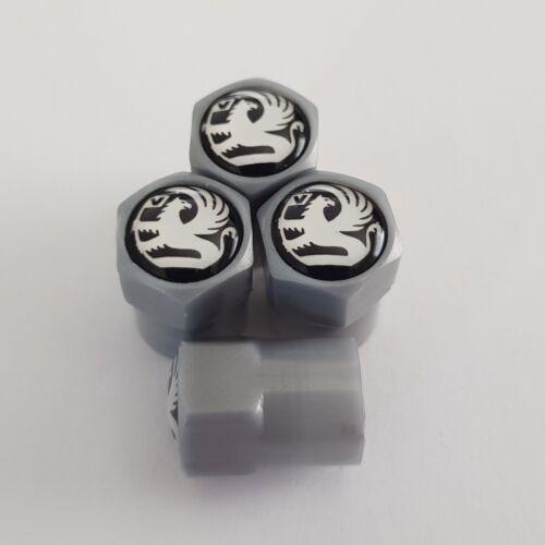 VAUXHALL GREY PLASTIC Valve Alloy wheel dust Caps All models NonStick astra
