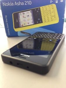 NOKIA ASHA 210 4 BLACK BRAND NEW GENUINE UNLOCKED & SIM-FREE